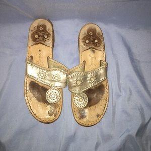 Very worn jack roger sandals size 6 1/2